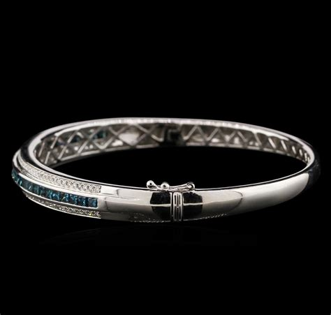 201ctw Fancy Blue Diamond Bangle Bracelet  14kt White Gold. Irish Jewelry. Engagement Rings Platinum Band. Gift Bracelet. White Sapphire. Platinum Diamond Stud Earrings. Baguette Diamond Ring Band. Fire Opal Earrings. Grandma Bracelet