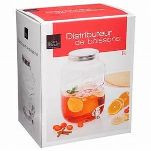 Distributeur De Boisson : distributeur de boisson en verre 8l transparent ~ Teatrodelosmanantiales.com Idées de Décoration