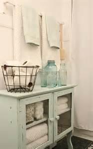 Shabby Chic Bathroom Storage