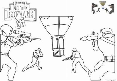 Fortnite Coloring Pages Drop Battle Royale Printable