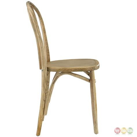 eon contemporary solid wood dining side chair