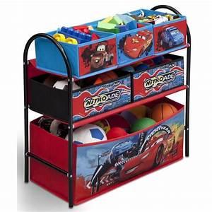 cars meuble de rangement enfant jouets 6 bacs achat With meuble de rangement jouets chambre