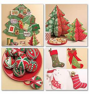 Christmas Tree Decorations Sewing Patterns