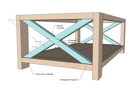 coffee table plans design images  pictures