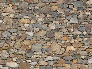 stone, mixed types, dry stacked