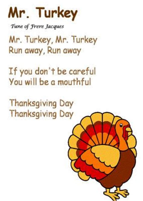 quot mr turkey quot song to the tune of frere jacques 235 | 53e970dc33a7b7ec36eb51ce6d735b0f