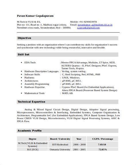 electronic technician resume exles resume format 2017