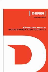 Derbi Boulevard 125 150 200 Workshop Service Repair Manual
