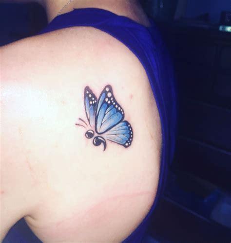 semicolon butterfly tattoo  pinterest tatouage