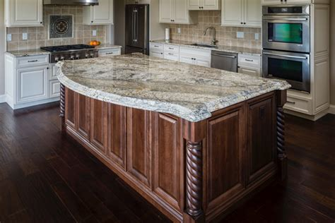 6 granite counters with patterns