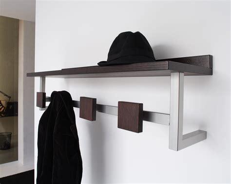 coat wall rack modern metal wooden wall mounted entryway coat rack with