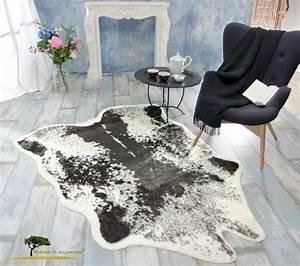 Wohnen Und Accessoires : fellteppich webpelzteppich teppich kuhfell schwarz ebay ~ Yasmunasinghe.com Haus und Dekorationen