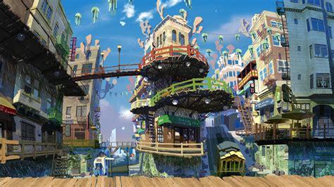 Anime City Scenery Wallpaper - anime city scenery wallpaper wallpaperhdc