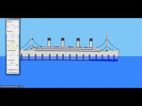 sinking simulator rms titanic youtube