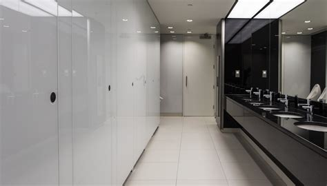 washroom washrooms  toilet cubicle adds  touch  glass