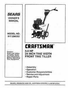 Craftsman 917 298352 Owner S Manual