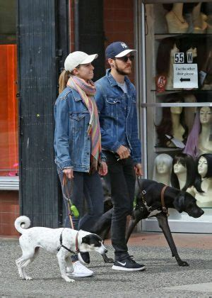 melissa benoist  chris wood walking  dogs farley