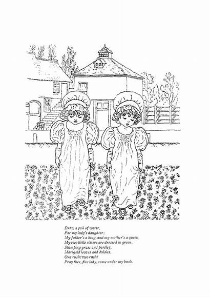 Nursery Rhymes Coloring Pages Printable Sheets Draw