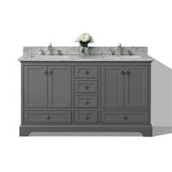 bathroom vanity top ideas shop ancerre designs sapphire gray 60 in undermount sink birch bathroom vanity