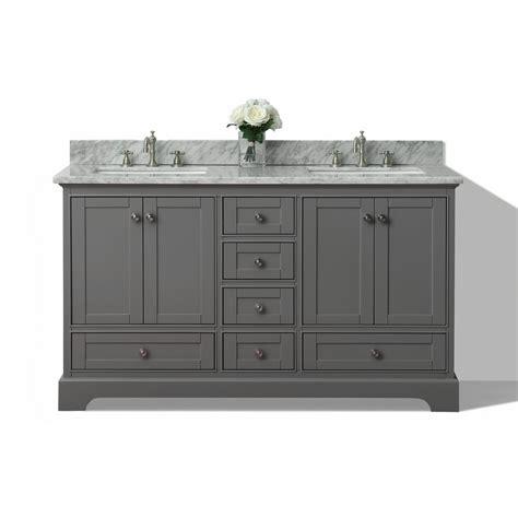 gray double sink vanity shop ancerre designs audrey sapphire gray undermount