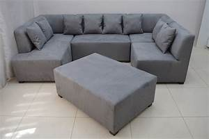Grey suede sofa smileydotus for Grey microsuede sectional sofa