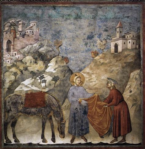 file giotto di bondone legend of st francis 2 st francis giving his mantle to a poor