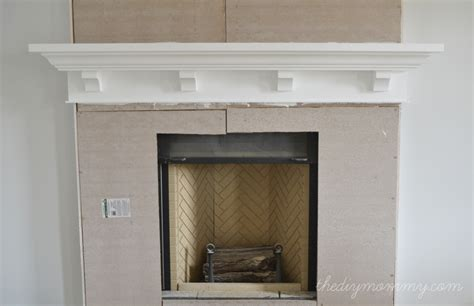 build fireplace mantel building our fireplace the diy mantel our diy house