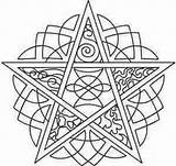 Pentagram Coloring Embroidery Pagan Urban Pentacle Elements Urbanthreads Wiccan Celtic Mandala Five Patterns Adult Template Threads Colouring Unique Pyrography Printable sketch template