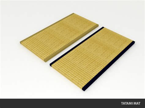 Japanese Floor Mat - tatami mat traditional japanese flooring 3d model