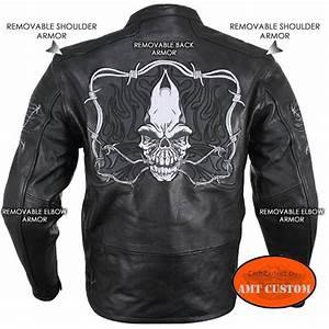Blouson De Moto : blouson biker moto cuir r tro r fl chissant t te de mort r fl chissant amt custom shop ~ Medecine-chirurgie-esthetiques.com Avis de Voitures