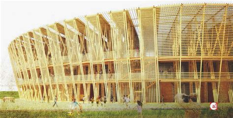 Shen Chen designs a temporary stadium built in bamboo