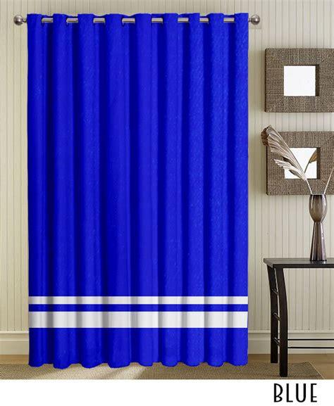white blue grommet curtains