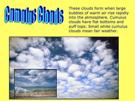 what kind of clouds usually form in a cold front cloud types presentation