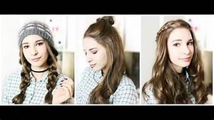 Einfache Frisuren Für Die Schule : 3 einfache schnelle frisuren f r lange haare und per cke von selinahelena youtube ~ Frokenaadalensverden.com Haus und Dekorationen