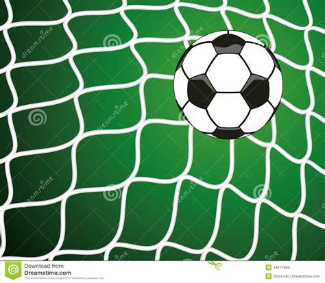 foto de Pallone Da Calcio Nella Rete Simbolo Di Scopo