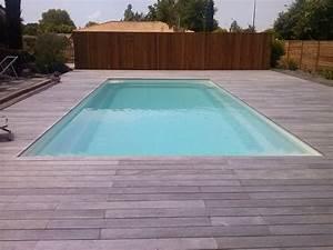 Bois Pour Terrasse Piscine : terrasse piscine carrelage imitation bois gallery photo ~ Edinachiropracticcenter.com Idées de Décoration