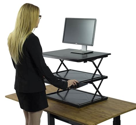 convert desk to standing desk changedesk adjustable standing desk conversion just been