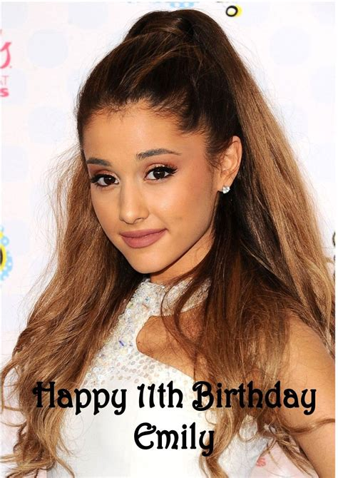 personalised ariana grande birthday card