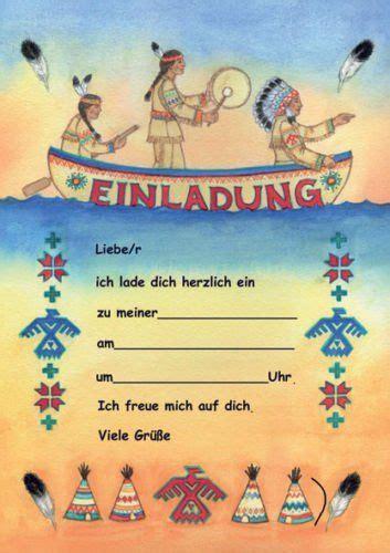 indianer einladungen kindergeburtstag geburtstag er set