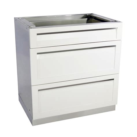 outdoor kitchen base cabinets 4 outdoor stainless steel 3 drawer 32x35x22 5 in