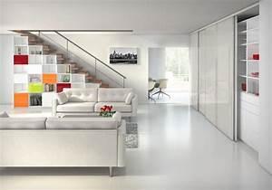 Aménagement Sous Escalier : amenagement salon avec escalier maison design ~ Preciouscoupons.com Idées de Décoration