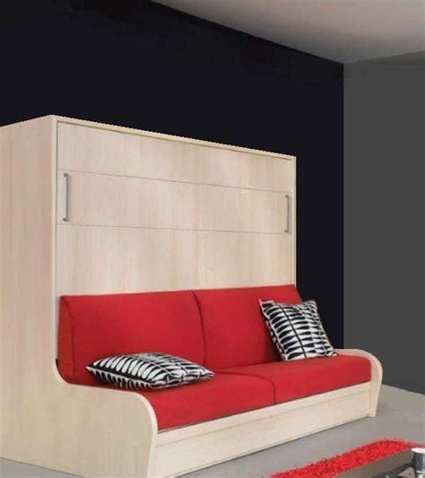 canapé lit pliant armoire lit transversal cus autoporteur avec canape