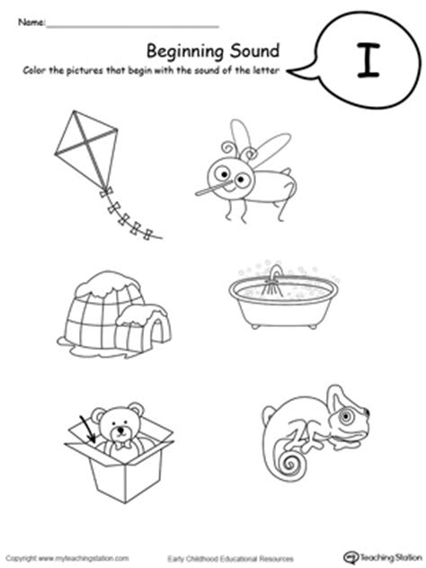13 best images of identifying letter sounds worksheet 374 | beginning sounds letter i 242082