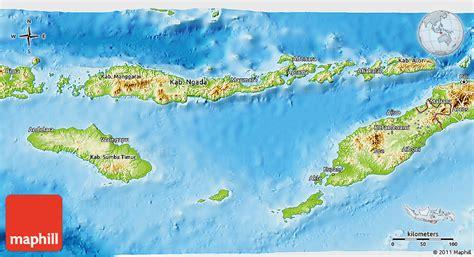 physical  map  east nusa tenggara