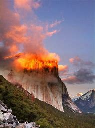 California Yosemite National Park Sunset