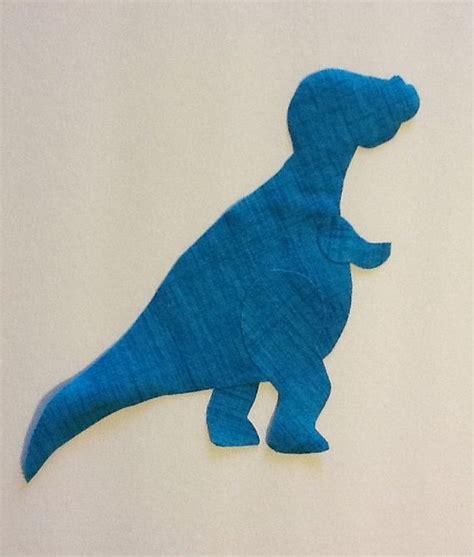dino dinosaur  rex fabric applique pattern template party