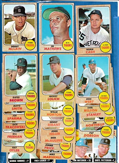 Are you looking for a baseball card stores near you? 1968 Topps - TIGERS Near Complete TEAM SET/Lot (24/25)