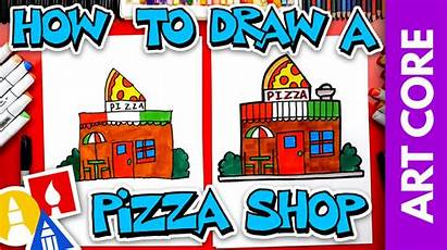 Draw Pizza Restaurant Lines Vertical Horizontal Core