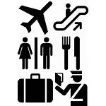 Airport Icons Signs Symbols Airplane Security Airports