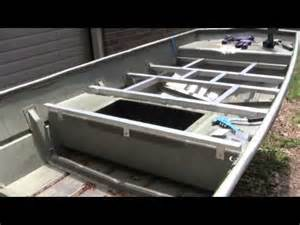 14 lowe jon boat decking part 3 bracing b youtube